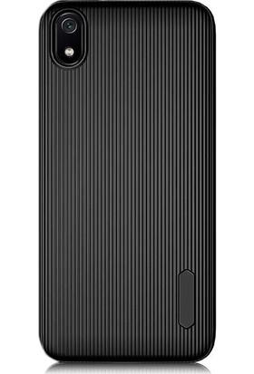 Gpack Xiaomi Redmi 7A Kılıf Trio Silikon Çizgili Lüx Arka Koruma Siyah