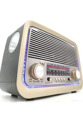 Supen Şarjlı Nostaljiradyo Bluetooth USB Sd Aux Mp3 Müzik Kutusu