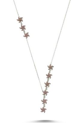 Silverella Gümüş 925 Ayar Nano Opal Taşlı Deniz Yıldızı Y Kolye