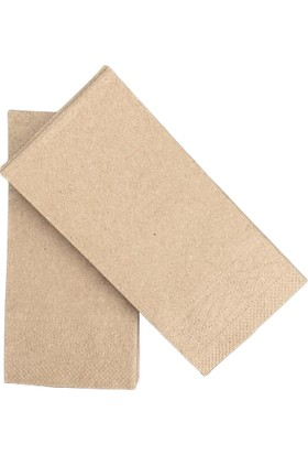 Soft Kağıt Kraft Peçete 25 x 25 1/8 2 Kat Baskısız Kraft 4800'lü Koli