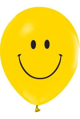 Balonevi Gülen Yüz Baskılı Balon 12 Inch 10 Adet