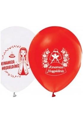 Balon Kınamıza Hoşgeldiniz Baskılı Balon 12 Inch 15 Adet