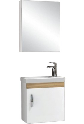 Samir Zümrüt Banyo Dolabı 45 cm