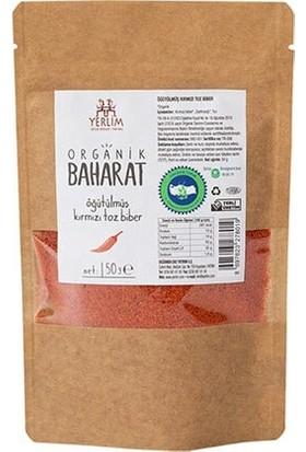 Yerlim Organik Öğütülmüş Acı Kırmızı Toz Biber 50 gr
