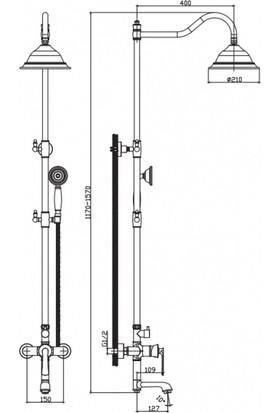 NSK Siempre Duş Sistemi Bataryalı Bronz