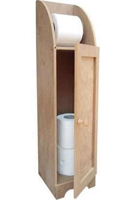 Okutan Hobi Ahşap Stoklu Tuvalet Kağıtlığı 14 x 12 x 63 cm