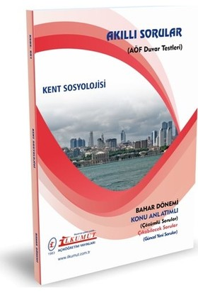 İlkumut Yayıncılık AÖF Kent Sosyolojisi