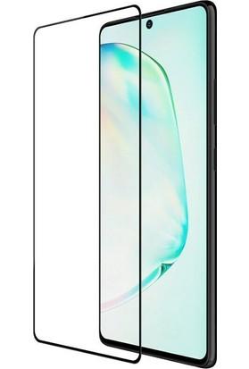 KNY Samsung Galaxy S10 Lite 5D Esnek Fiber Nano Cam Ekran Koruyucu SiyahSiyah