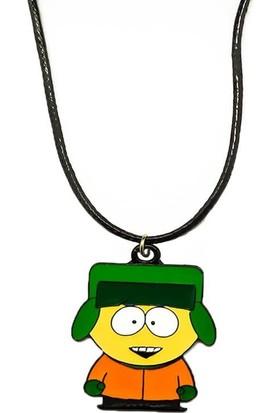 AlpCollection South Park Kyle Broflovski Suni Deri İpli Metal Kolye