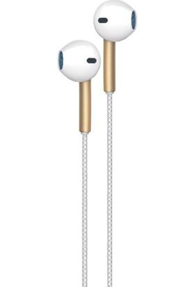 Hometech i9 Kablolu Kulaklık Beyaz - Altın