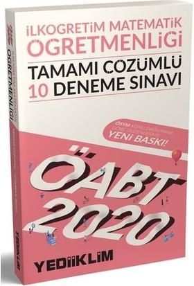 Yediiklim Yayınları 2020 ÖABT İlköğretim Matematik Öğretmenliği Tamamı Çözümlü 10 DenemeSınavı