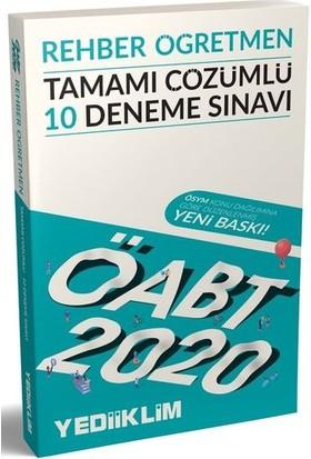 Yediiklim Yayınları 2020 KPSS ÖABT Rehber Öğretmen Tamamı Çözümlü 10 Deneme Sınavı