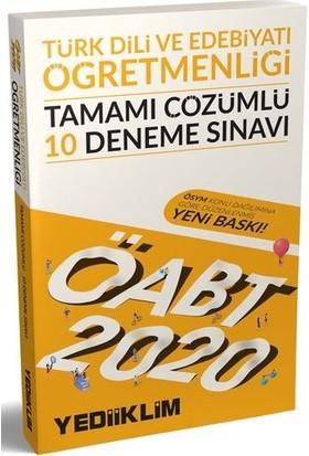 Yediiklim Yayınları 2020 KPSS ÖABT Türk Dili Ve Edebiyatı Öğretmenliği Tamamı Çözümlü 10 Deneme Sınavı