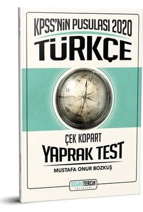 Doğru Tercih 2020 KPSS'nin Pusulası Türkçe Çek Kopart Yaprak Test