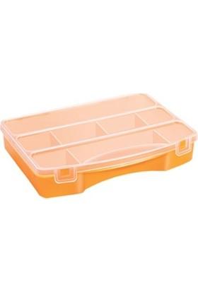 Hipaş Plastik - 8 Bölmeli Kapaklı Organizer Kutu - 608 (5 Adet )