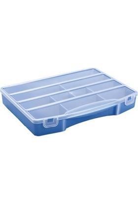 Hipaş Plastik - 10 Bölmeli Kapaklı Organizer Kutu - 609 (5 Adet )
