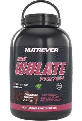 Nutrever Whey Protein Isolate 1800 gr + Fitness Havlu