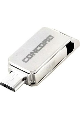 Concord 8gb 2.0 Micro Otg Usb Flash Bellek Metal C-OTGT8
