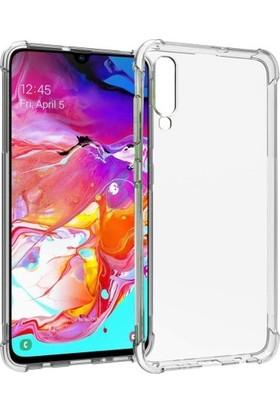 Guesche Samsung Galaxy A70 Airbag Silikon Kılıf Şeffaf