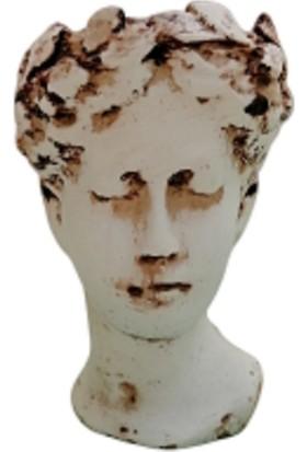 Antik Helen Saksı Büst Saksı Kaktüs Sukulen Saksısı