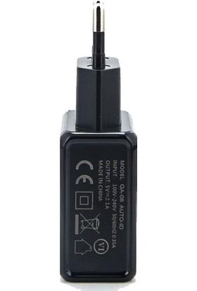 Gerlax Çift USB Şarj Cihazı 5V 2.1A + Lightning Data ve Şarj Kablosu1 mt
