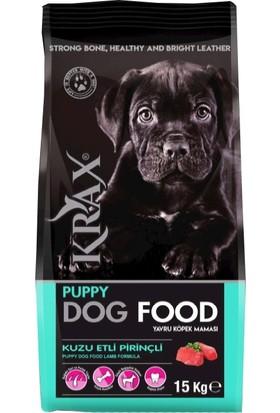 Krax Puppy Kuzu Etli Pirinçli Yavru Köpek Maması 15 kg