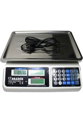Brader Elektronik Terazi Market Manav Terazi 40 kg