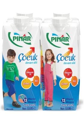 Pınar Çocuk Devam Sütü 4x500 ml