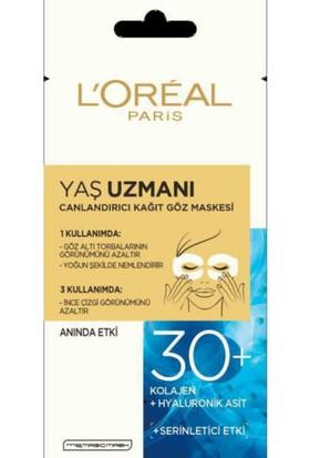 L'Oréal Paris Yaş Uzmanı Canlandırıcı Kağıt Göz Maskesi 30+