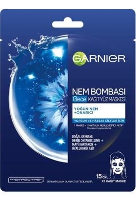Garnier Nem Bombası Gece Kağıt Yüz Maskesi