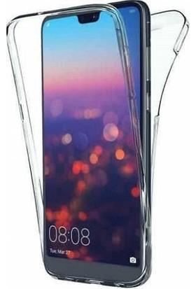 Huawei P20 Lite Ön Arka Şeffaf 360 Derece Tam Korumalı Kılıf