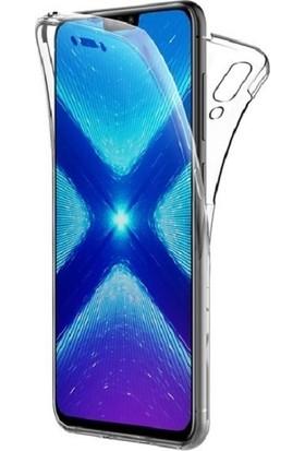 Huawei Honor 8x Ön Arka Şeffaf 360 Derece Tam Korumalı Kılıf
