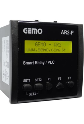 Gemo Akıllı Role AR2-P-24VDC-10D2A