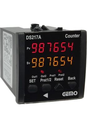 Gemo 6 Haneli Çift Setli Sayıcı DS217A-24V