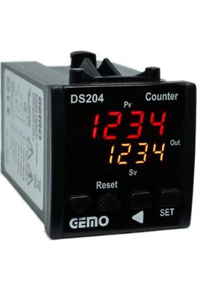 Gemo Tek Set Sayıcı DS204-24AC/DC