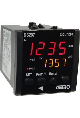 Gemo 4 Haneli Çift Setli Sayıcı DS207-230VAC