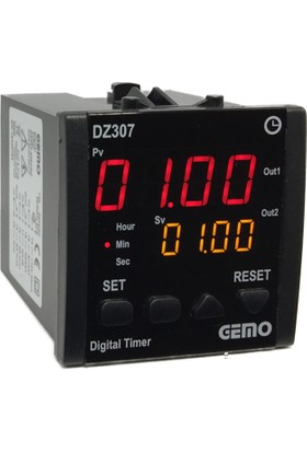 Gemo Çift Çıkışlı Zaman Rolesi DZ307-24VDC