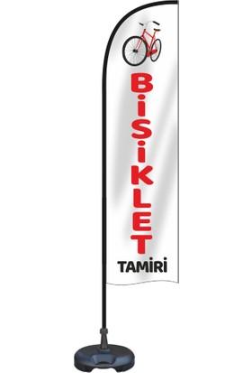 ReklamEdiyoruz Bisiklet Yazılı Yelken Bayrak