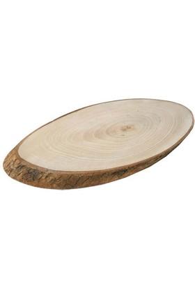 Acar Süs Büyük Kestane Ağacı Kütük Oval Tepsi