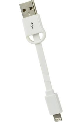 Goji Lightning Data ve Şarj Kablosu 8 cm - Beyaz