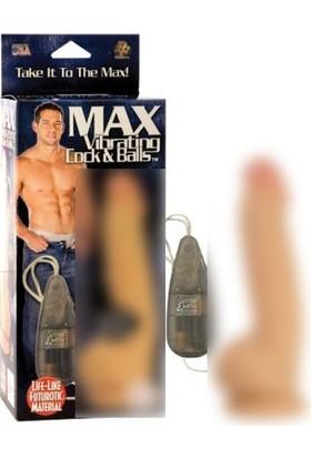 Max Vibrating Özel Dokulu Çift Motorlu Titreşimli Penis