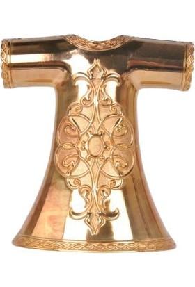 Zücace Dekoratif Kaftan Işlemeli Altın Renkli