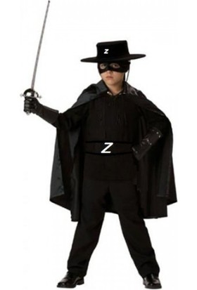 Kostümce Çocuk Zorro Kostümü