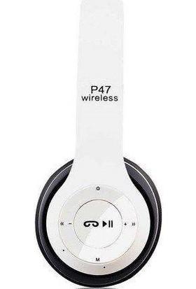 Cree P47 Bluetooth Kulak Üstü Kulaklık Beyaz