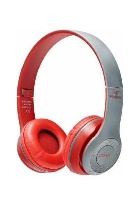 Cree P47 Bluetooth Kulak Üstü Kulaklık Kırmızı