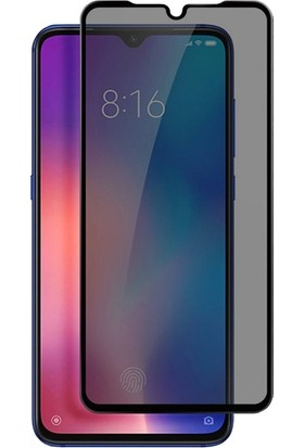 Dafoni Xiaomi Redmi 8 Curve Privacy Tempered Glass Premium Cam Ekran Koruyucu Şeffaf Siyah