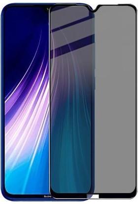 Eiroo Xiaomi Redmi Note 8T Curve Privacy Tempered Glass Cam Ekran Koruyucu Şeffaf Siyah