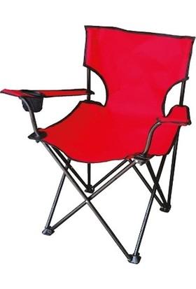 Cici Reyon Katlanır Kamp Sandalyesi Kırmızı