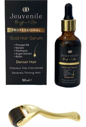 Jeuvenile Dökülme Karşıtı ve Besleyici Yoğunlaştırıcı Altın Saç Serumu + 540 Iğne 1 mm Dermaroller