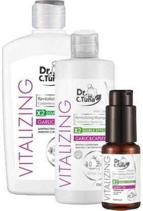 Farmasi Dr. C. Tuna Canlandırıcı Sarımsaklı Saç Bakım Seti
